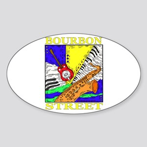 Bourbon Street Oval Sticker